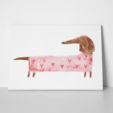 Dachshund suit hearts hand drawing 531122113 a