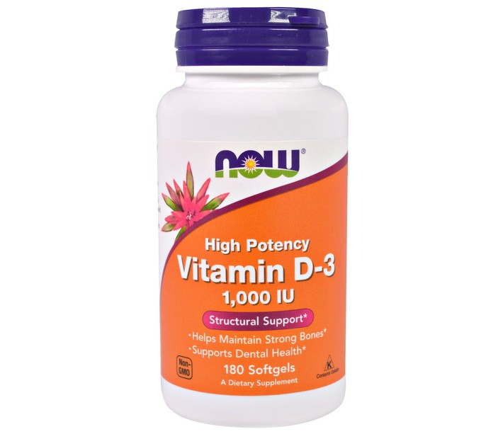 NOW VITAMIN D-3 1000 IU 180SOFTGELS