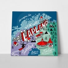 Illustrated map lapland 328600814 a
