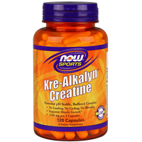 NOW SPORTS KRE-ALKALYN CREATINE, 120 CAPS