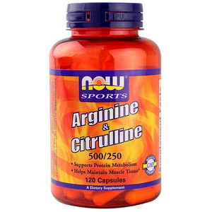 Now foods sports arginine and citrulline 733739000378