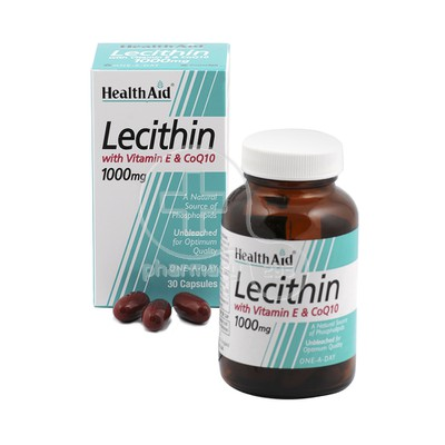 HEALTH AID - Lecithin with CoQ10 & Vitamin E - 30caps