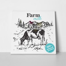 Black sketch cow farm 490743895 a