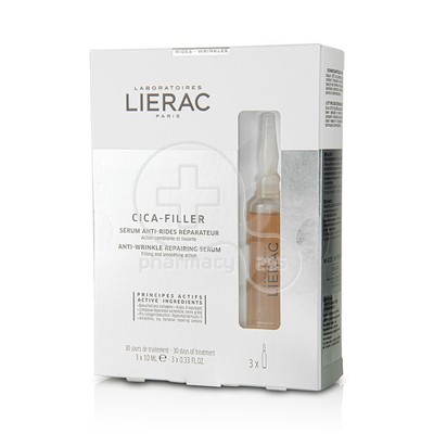 LIERAC - CICA FILLER Serum Anti Rides Reparateur - 3x10ml