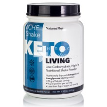 Natures Plus Keto Living LCHF Shake (Low Carbohydrate High Fat) - Vanilla, 578 gr
