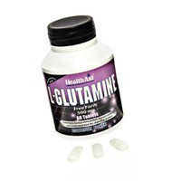HEALTH AID L-GLUTAMINE 500MG 60TABS