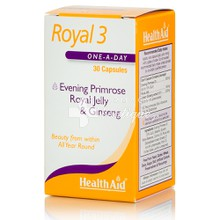 Health Aid ROYAL 3 - Ζωντάνια (Royal Jelly + E.P.O. + Korean Ginseng), 30caps