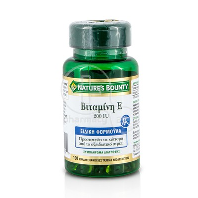 NATURE'S BOUNTY - Vitamin E 200iu - 100softgels