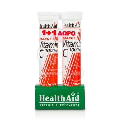 HEALTH AID - PROMO PACK 1+1 ΔΩΡΟ Vitamin C 1000mg - 20eff.tabs