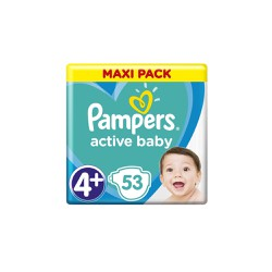 Pampers Active Baby Diapers Size 4+ (10-15kg) 53 Diapers