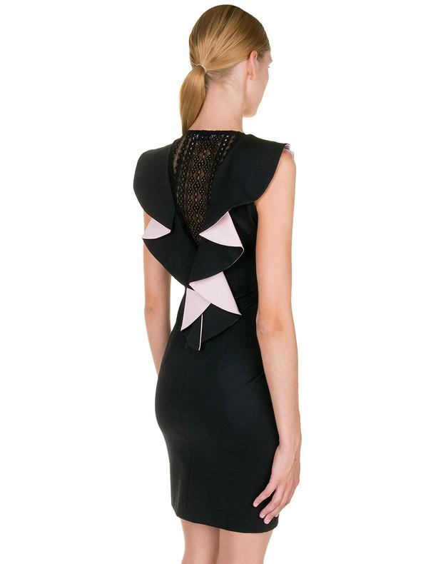 12043c51dc1a Εφαρμοστό φόρεμα με βολάν στην πλάτη - Toi moi