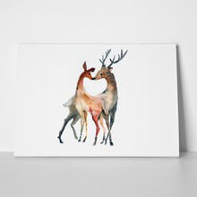 Couple deer watercolor illustration 370766594 a