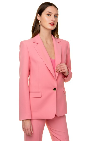 Blazer with polka dot lining