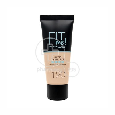MAYBELLINE - FIT ME Matte & Poreless Foundation No120 (Classic Ivory) - 30ml