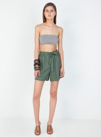 Linen high waisted shorts