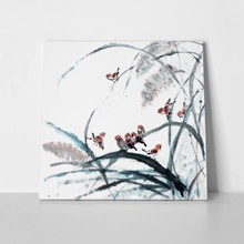 Chinese flower bird painting 73717927 a