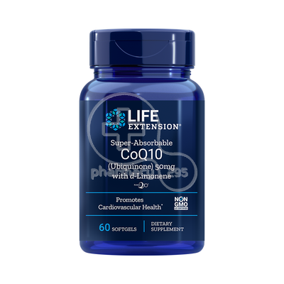 LIFE EXTENSION - Super Absorbable CoQ10 50mg wih d-Limonene - 60softgels