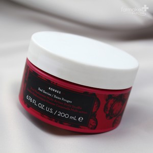 KORRES Κρέμα σώματος body souffle Dual hyaluronic multi-action με άρωμα red berries 200ml