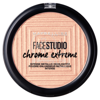 MAYBELLINE - FACE STUDIO CHROME EXTREME Intense Metallic Highlighter No350 (Molten Rose Gold) - 6gr