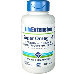 Life extension super omega 3 120tabs