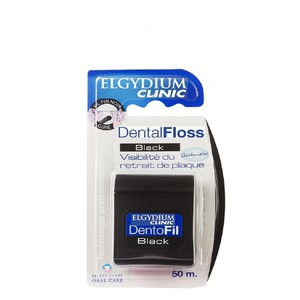 Elgydium clinic dental floss black 50m enlarge