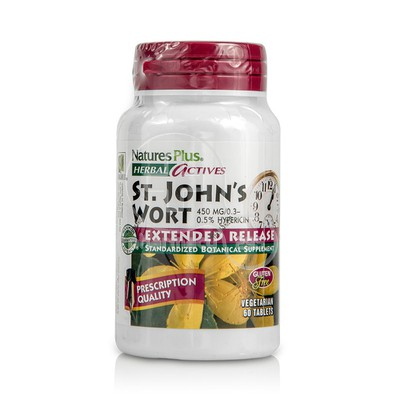 NATURE'S PLUS - HERBAL ACTIVES St. John's Wort 450mg - 60tabs