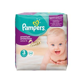 PAMPERS ΠΑΝΕΣ ACTIVE FIT No.3 MIDI 5-9KG 28ΤΜΧ
