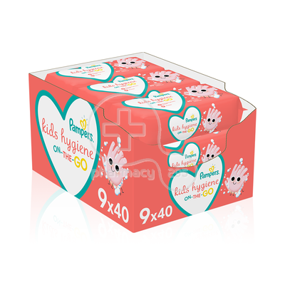 PAMPERS - PROMO PACK 9 ΤΕΜΑΧΙΑ KIDS HYGIENE On-The-Go Baby Wipes - 40τεμ.