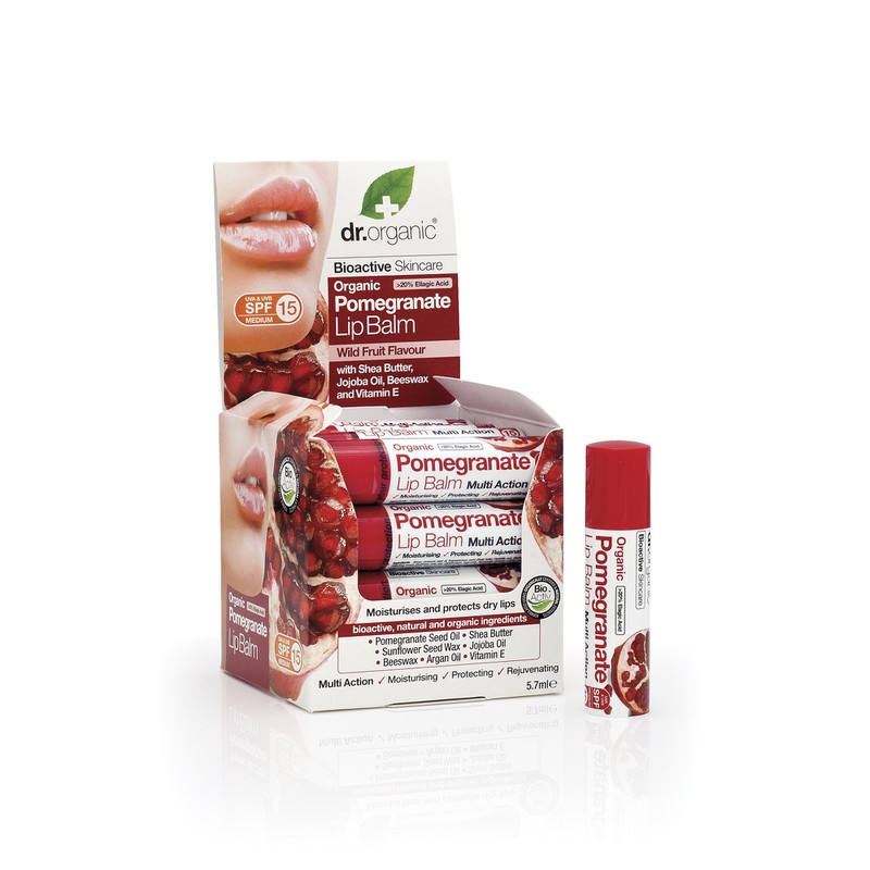 Organic Pomegranate Lip Balm