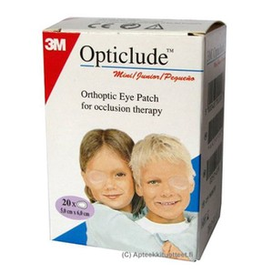 OPTICLUDE Boys & girls mini eye patches 5,0cmX6,2cm 20patches