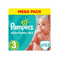 Pampers Mega Pack Active Baby Dry No3 (Midi) 5-9kg 152 Πάνες