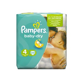 PAMPERS ΠΑΝΕΣ BABY DRY No.4 MAXI 8-16KG 25TMX