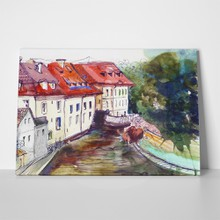 Czech watercolour illustration 235822396 a