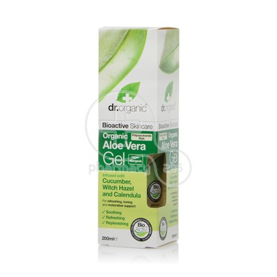 DR. ORGANIC - ALOE VERA Gel with Cucumber, Hazel & Calendula - 200ml