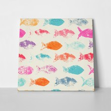 Abstract fishes pattern 418311031 a