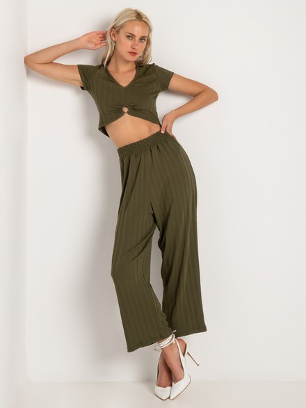 Ribbed crop pants