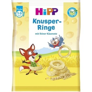 Hipp children crunchy cheese rings 1 3 years 25gr