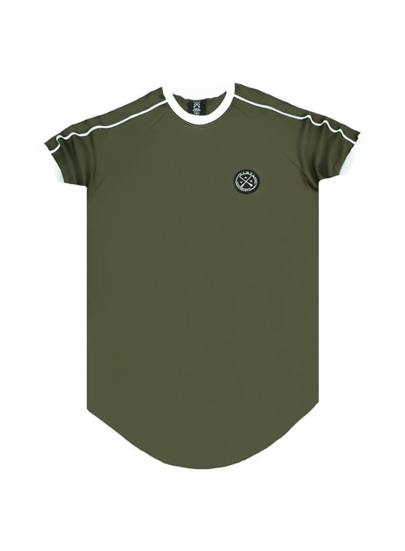 VINYL ART CLOTHING KHAKI 2 STRIPE T-SHIRT