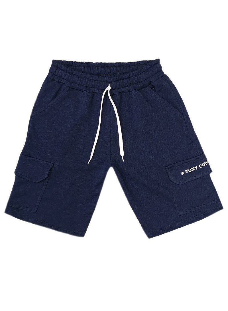 TONY COUPER BLUE TS POCKET SHORTS
