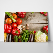 Vegetables on wood