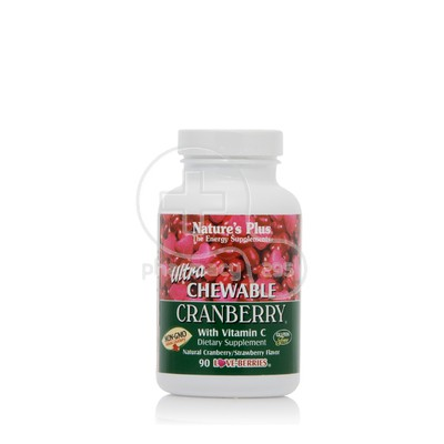 NATURE'S PLUS - ULTRA Chewable Cranberry with Vit C 200mg - 90berries