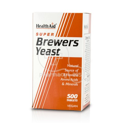 HEALTH AID - Super Brewers Yeast - 500tabs