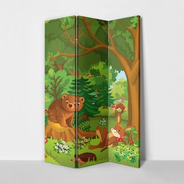 Forest animals 3panel