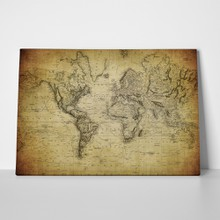 Vintage world map 1814