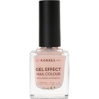 KORRES NAIL COLOUR GEL EFFECT (WITH ALMOND OIL) No4 PEONY PINK 11ML