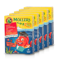 MOLLER'S - PROMO PACK 5 ΤΕΜΑΧΙΑ Omega-3 - 36 fish jellies φράουλα