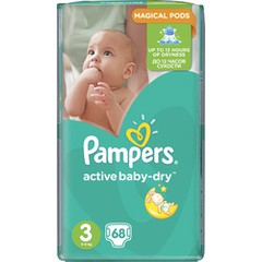 Pampers - Active Baby Dry No3 (5-9Kg) 68 τμχ