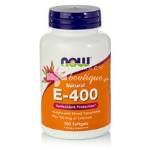 Now Vitamin E 400IU with Selenium 100mcg - Αντιοξειδωτικό, 100softgels