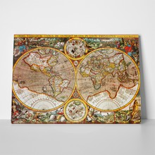 Antique world map 1607 24518395 a