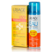 Uriage Σετ Bariesun Cream SPF50+, 50ml + Δώρο Eau Thermale Water, 100ml